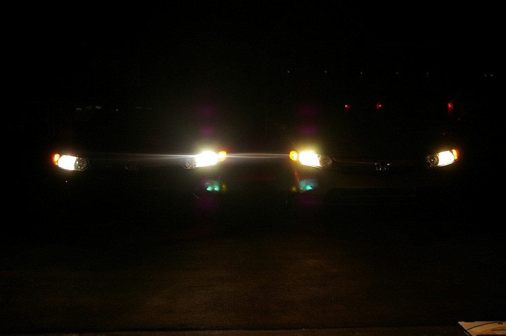 Sylvania Silverstar Ultra vs stock headlights.